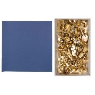 Papel 30,5 x 30,5 cm azul índigo +...