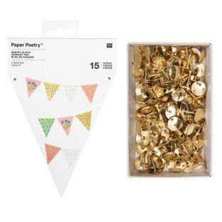 15 flower pennants garland + 150...