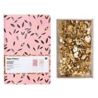 2 A5 coral and gold notebook + 150...