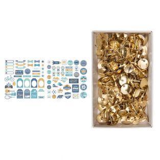 Papa paper cut shapes + 150 golden...