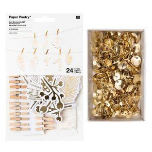 24 pieces golden forest Christmas...