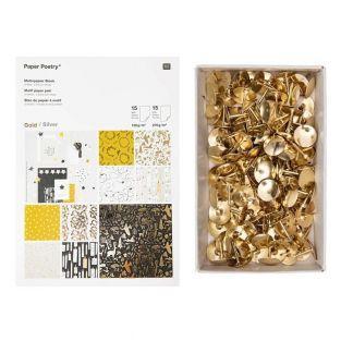 30 Blatt gold- und silbernes...