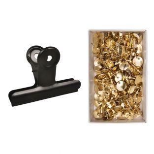 Pince double clip métal noir 9 x 7 x...