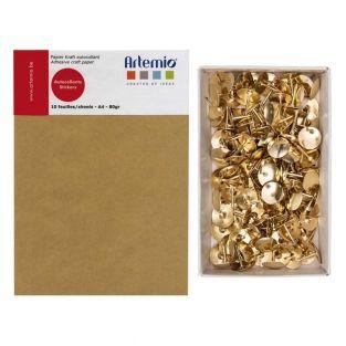 10 hojas A4 de papel kraft adhesivo +...