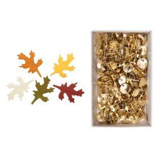 10 Herbstpapierbaumblätter + 150...