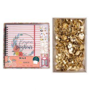 Stationery Organizer Box + 150 golden...