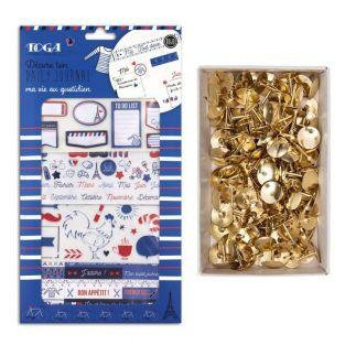 Frenchy Scrapbooking box + 150 golden...