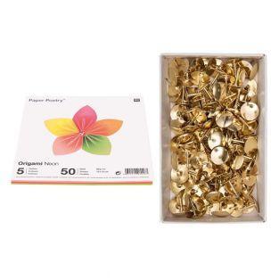 50 hojas de origami fluorescentes 15...