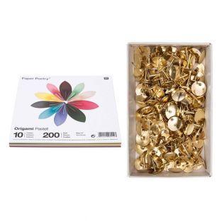 200 hojas de origami pastel 15 x 15...