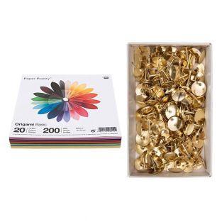 200 Origami-Blätter Basic 15 x 15 cm...