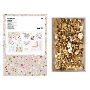 60 hojas de origami Wild Bouquet +...