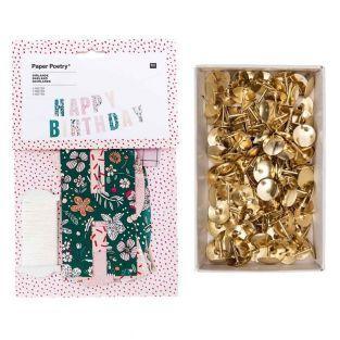 Happy Birthday floral garland 3 m +...