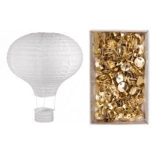 Linterna globo de papel y metal Ø 30...