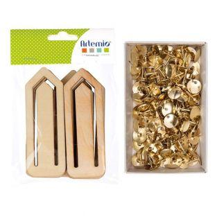 12 marcadores de clip de madera + 150...