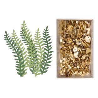 6 Blatt grünes Pflanzenpapier + 150...