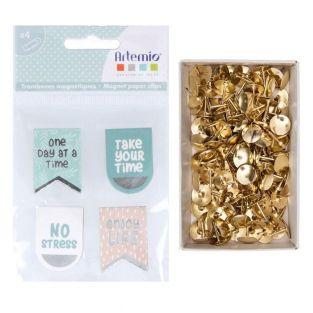 4 No Stress magnetic paper clips 3.5...