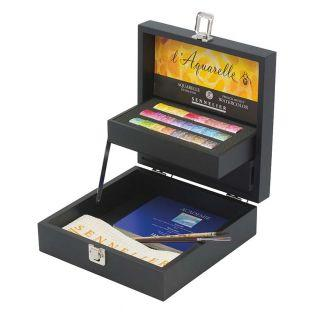 Black watercolour box - 24 extra-fine...