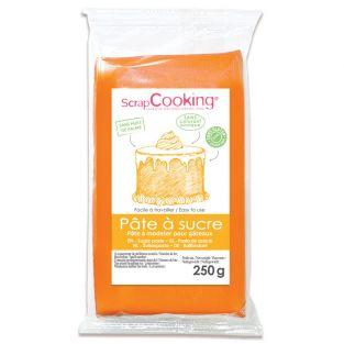 Pasta de azúcar naranja - sabor vainilla