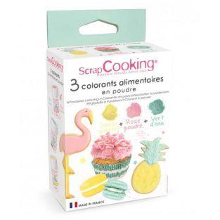 3 Lebensmittelfarbstoffe Pulver rosa,...