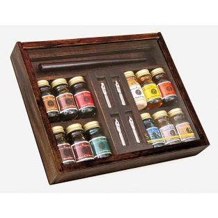 Calligraphy box 12 inks of 10 ml +...