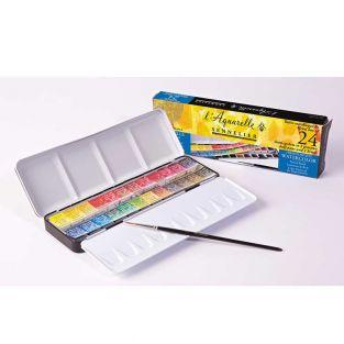 Watercolour metal box - 24 extra-thin...