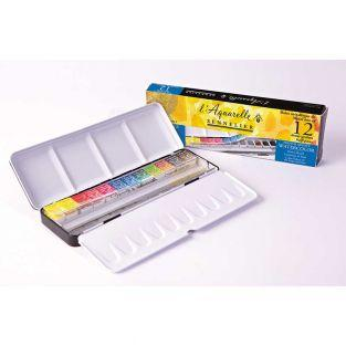 Watercolour metal box - 12 extra-thin...