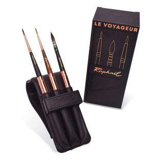 Traveller's set - 3 brushes + Case -...