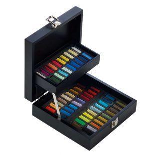 "Black Pastel ""A l'écu"" box - 60 half..."