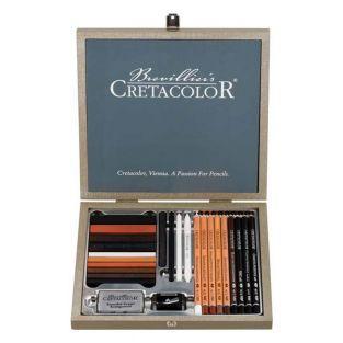 Cretacolor Passion wood box - 25 pieces