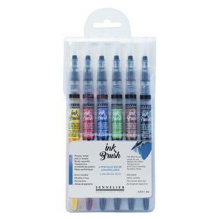 6 pennelli per inchiostro ad...