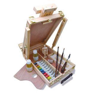 Caja de caballete de madera - 10...