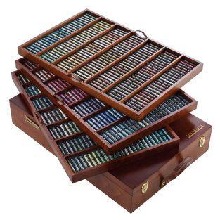 Scatola di legno - 525 pastelli