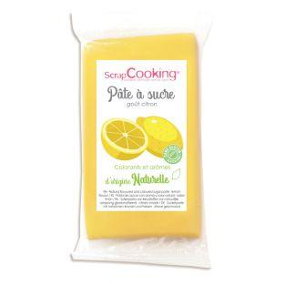 Yellow sugar paste 250 g - lemon flavor