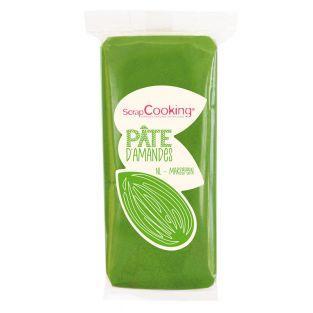Pasta di mandorle - Verde - 200 g