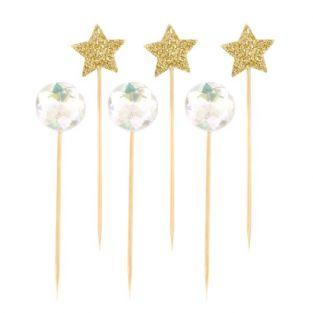 18 cocktail stick - stars balls