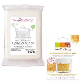 Pasta di zucchero 500 g Bianco +...
