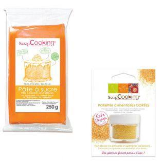 Fondant Orange mit Vanille-Geschmack...