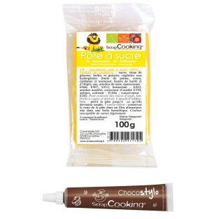Yellow sugarpaste 100 g + Edible...