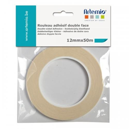 Cinta adhesiva doble cara - ancho 12 mm