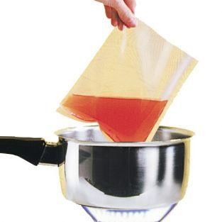 6 hot-water bags for candle wax