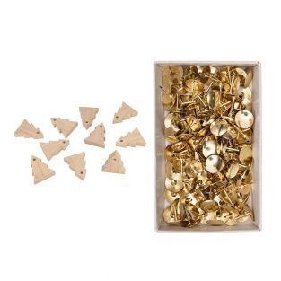 Girlande aus 10 Holztannen 5 cm + 150...