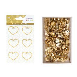 6 Herz Büroklammern + 150 goldenen...