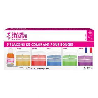 5 colorants pour bougie -...