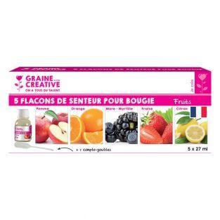 5 aromi per candela x 27 ml - frutta