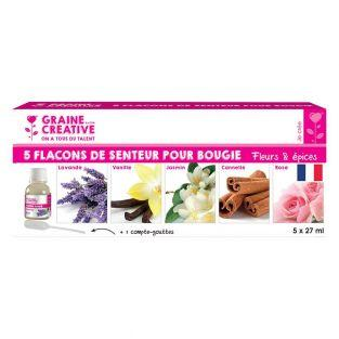 5 flavors for candle 27 ml - Flowers...