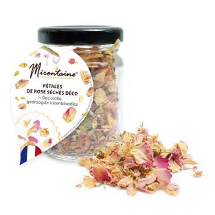 Edible dried rose petals for pastry...