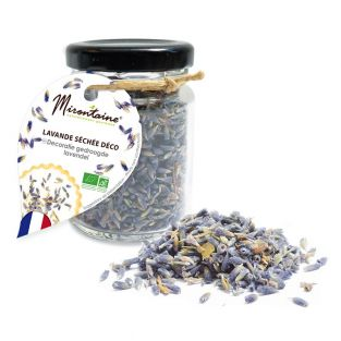 Edible dried lavender for pastry making