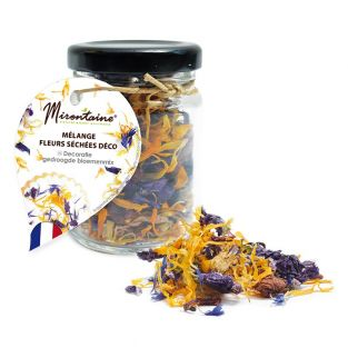 Edible dried flower mix for pastry...