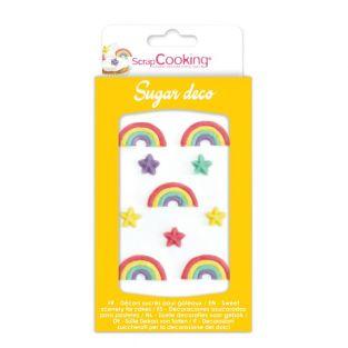 Süße Regenbogen-Dekorationen