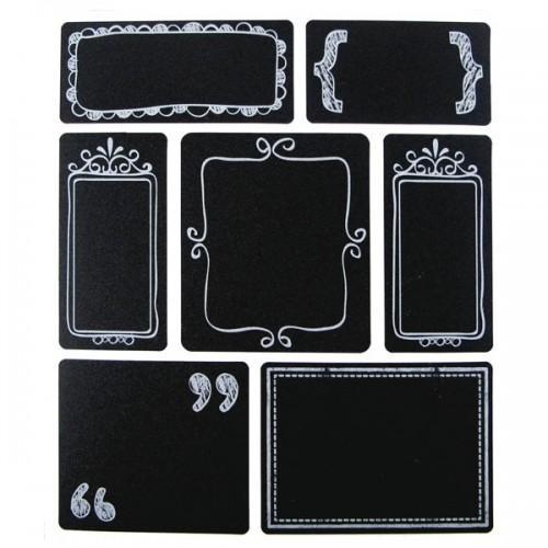 28 Stickers ardoise - étiquettes